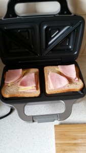 11 Toasties - Top Ham Laid Out